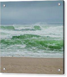 Wild Waves Acrylic Print by Judy Hall-Folde