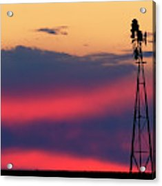 Windmill At Sunset 07 Acrylic Print by Rob Graham