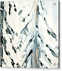 Winter Trees #4 Acrylic Print by Maria Langgle