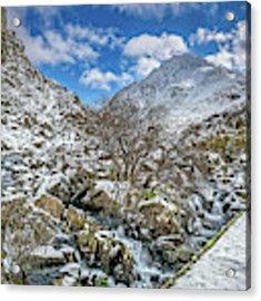 Winter Wonderland Snowdonia Acrylic Print by Adrian Evans