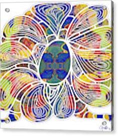 Zen Flower Abstract Meditation Digital Mixed Media Art By Omaste Witkowski Acrylic Print by Omaste Witkowski