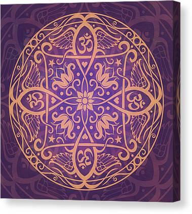 Purple Art Canvas Prints