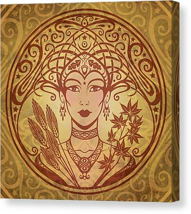Goddess Art Canvas Prints