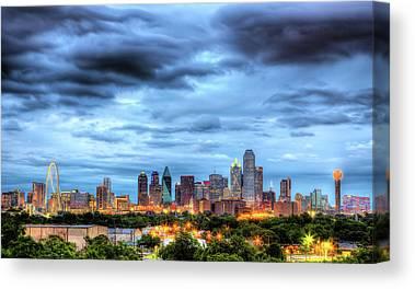 Dallas Skyline Canvas Prints
