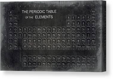 Atomic Number Canvas Prints