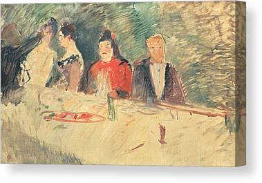 Table Cloth Drawings Canvas Prints