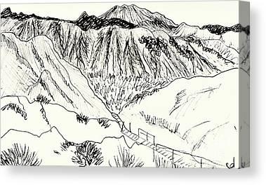 Semi Dry Drawings Canvas Prints