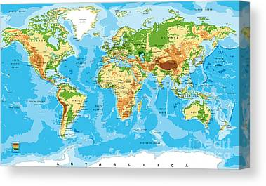 Physical Geography Canvas Prints