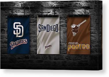 San Diego California Baseball Stadiums Canvas Prints