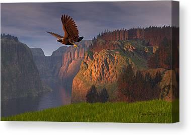 Eagle Digital Art Canvas Prints