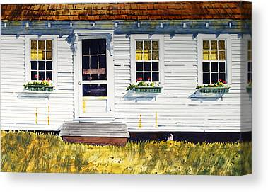Maine Farms Paintings Canvas Prints