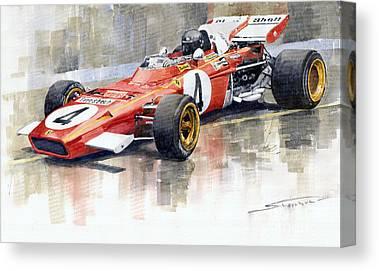 Formula 1 Canvas Prints