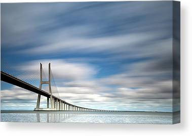 Vasco Da Gama Bridge Canvas Prints