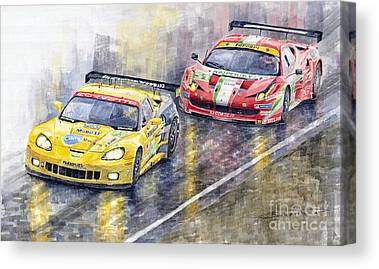 Racecar Canvas Prints