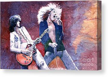 Robert Plant Paintings Canvas Prints