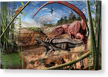 Triassic Canvas Prints