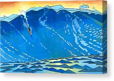 Surfers Canvas Prints