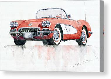 American Cars Canvas Prints