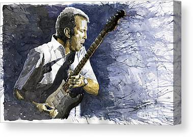 Eric Clapton Paintings Canvas Prints