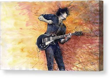 Guitarist Paintings Canvas Prints