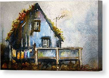 Thatched Roof Paintings Canvas Prints
