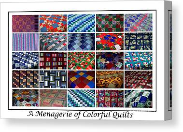 Menagerie Of Colorful Quilts Canvas Prints