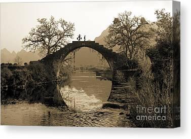 Rural Bridge Canvas Prints