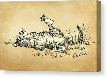 Tiger Paw Canvas Prints