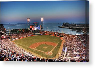San Francisco Giants Ballpark Canvas Prints