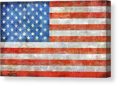 Old Glory Digital Art Canvas Prints