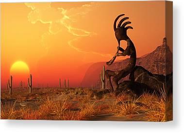 Southwest Digital Art Canvas Prints