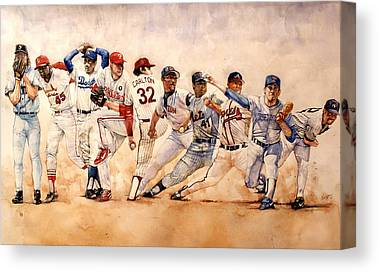 Phillies Drawings Canvas Prints