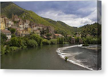 Roquebrun Canvas Prints