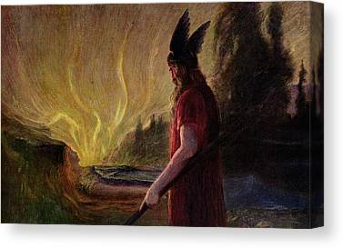 As The Flames Rise Canvas Prints
