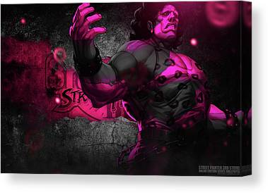 Street Fighter Canvas Prints