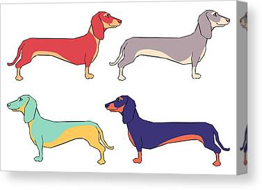 Dachshund Puppy Canvas Prints