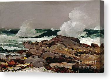 Rocky Maine Coast Paintings Canvas Prints