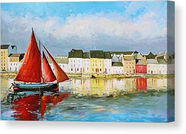 Galway Hooker Canvas Prints