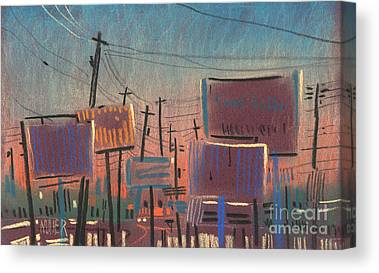Sunset Drawings Canvas Prints