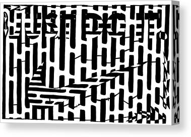 Maze Advertising Canvas Prints