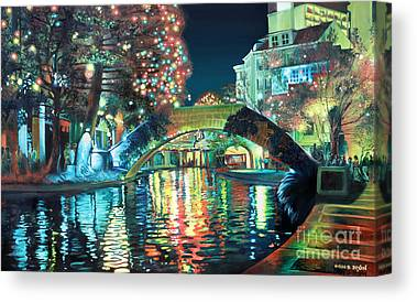 Riverwalk Paintings Canvas Prints