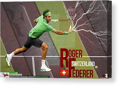 Tennis Players Canvas Prints