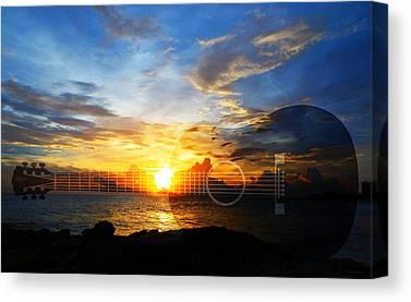 Guitar Picks Canvas Prints