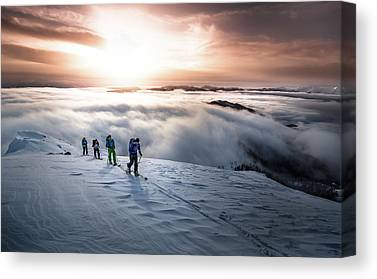 Ice Climbing Canvas Prints