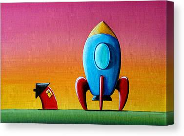 Outer Space Paintings Canvas Prints