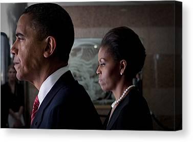 Of Michelle Obama Canvas Prints