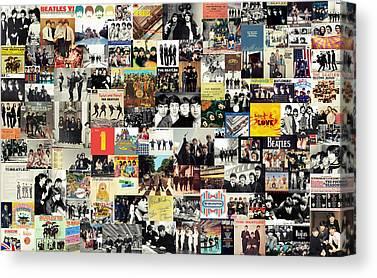 Abbey Road Mixed Media Canvas Prints