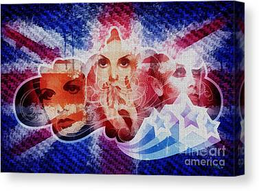Twiggy Mixed Media Canvas Prints