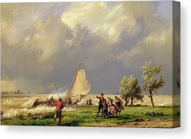 Storm Stormy Wind Windswept Windy Wreck Ship Wreck Canvas Prints