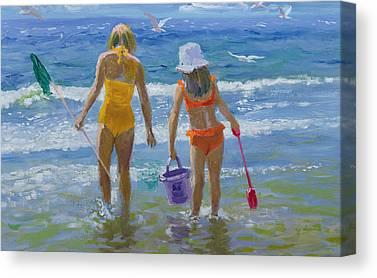 Sandcastles Canvas Prints